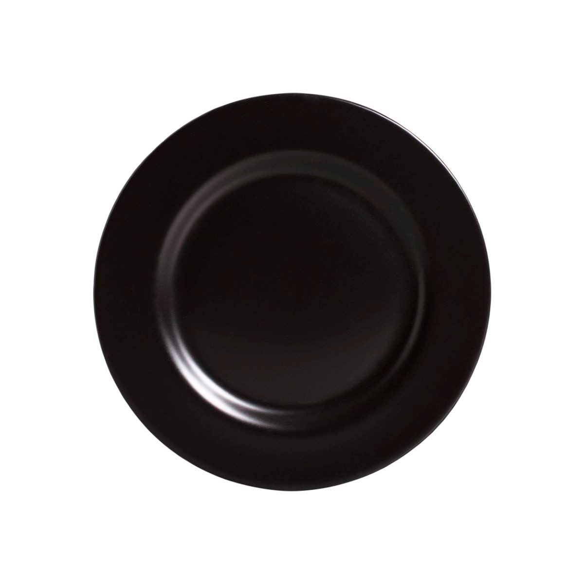 Prato Sobremesa Preto Acetinado Cerâmica Alleanza - 6 Peças