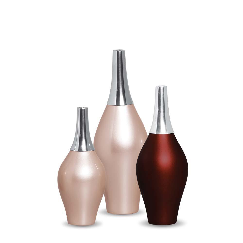 Garrafa Styllo Trio Decoração Em Cerâmica Sensation E Rosé