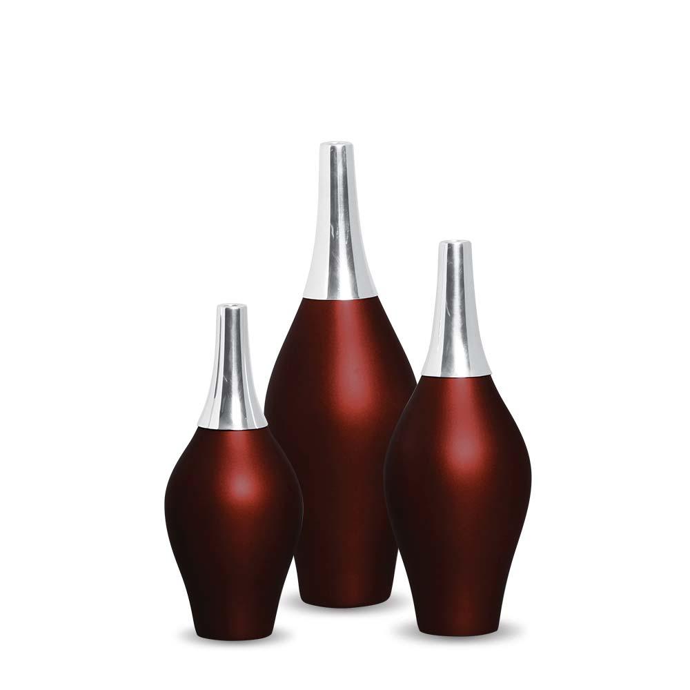 Garrafa Styllo Kit Enfeite Decoração Cerâmica Vinho Sensation