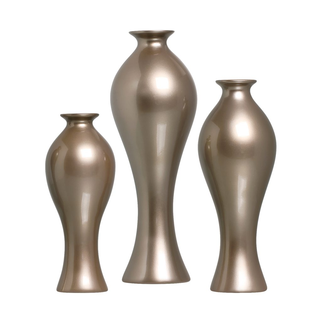 Trio Vaso Califórnia Decoração Em Cerâmica Dark Fendi
