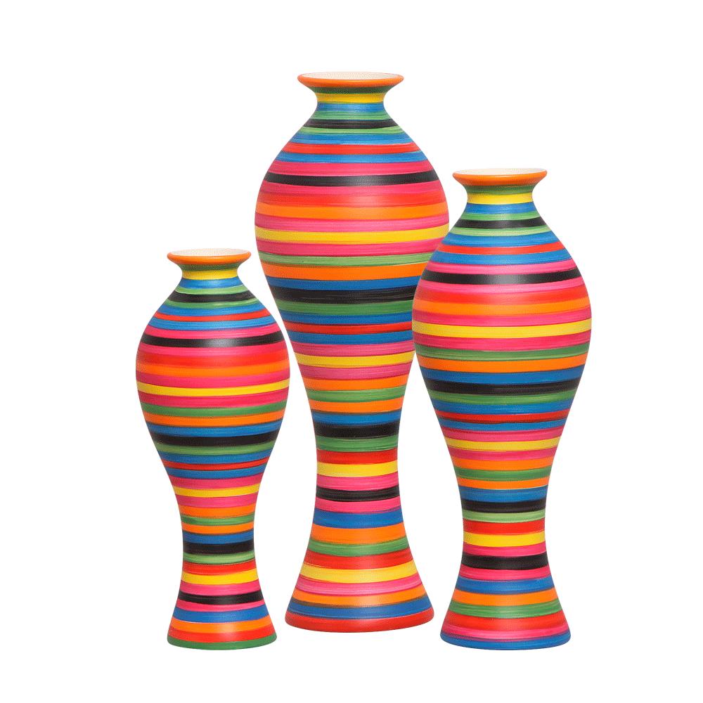 Trios Vaso Decorativo Califórnia Decoração Cerâmica Colors