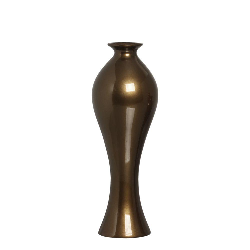 Vaso Califórnia G Decoração Em Cerâmica Capuccino
