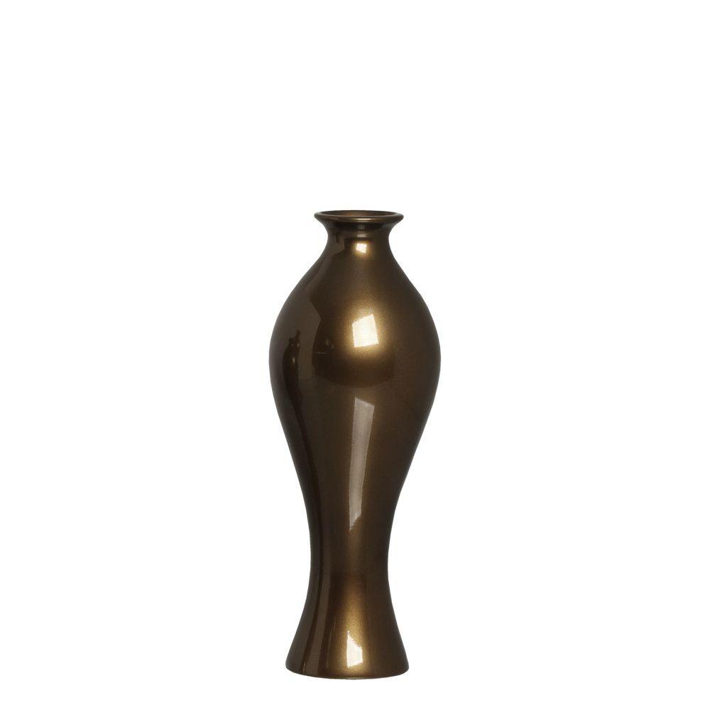 Vaso Califórnia M Decoração Em Cerâmica Capuccino