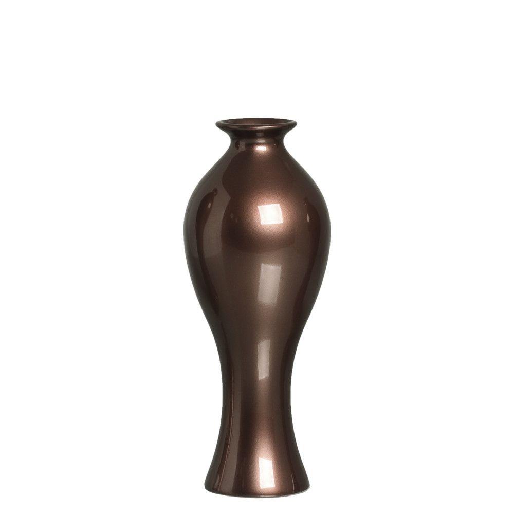 Vaso Califórnia M Decoração Em Cerâmica Bronze