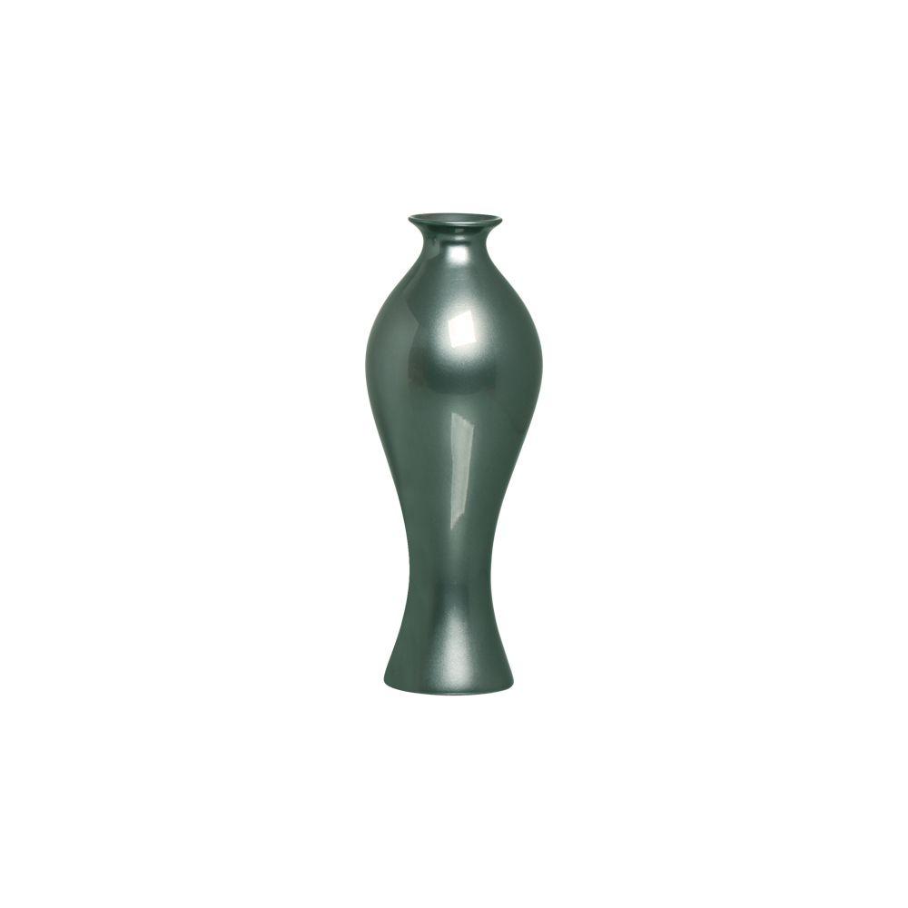 Vaso Califórnia M Decoração Em Cerâmica Verde Perolado