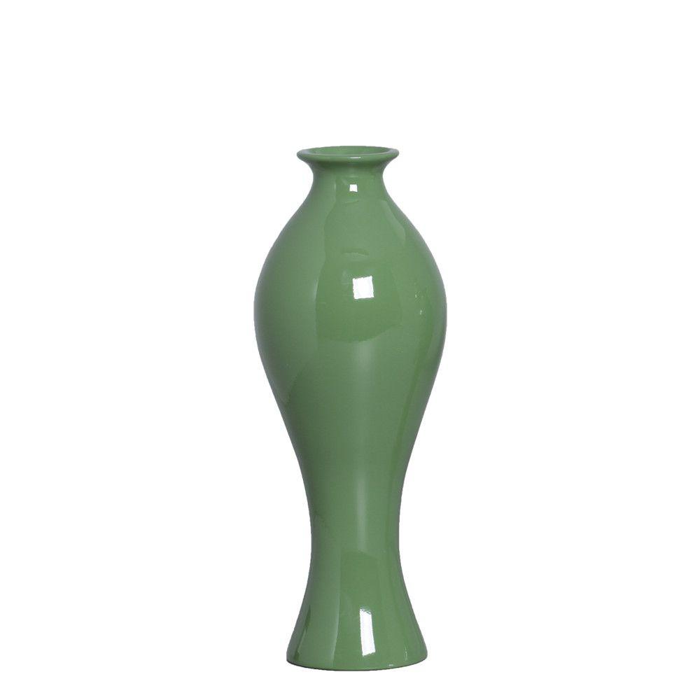 Vaso Decorativo Califórnia M Decoração Em Cerâmica Verde