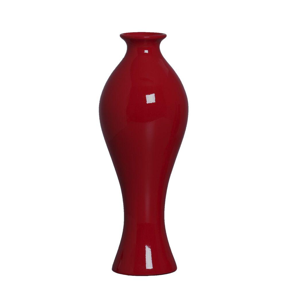 Vaso Califórnia M Decoração Em Cerâmica Vermelho