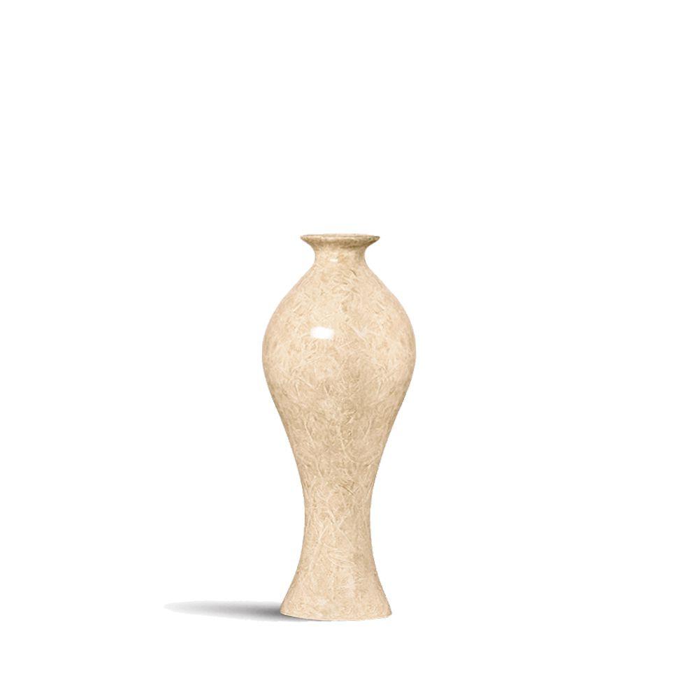 Vaso Califórnia P Decoração Em Cerâmica Bege Petra