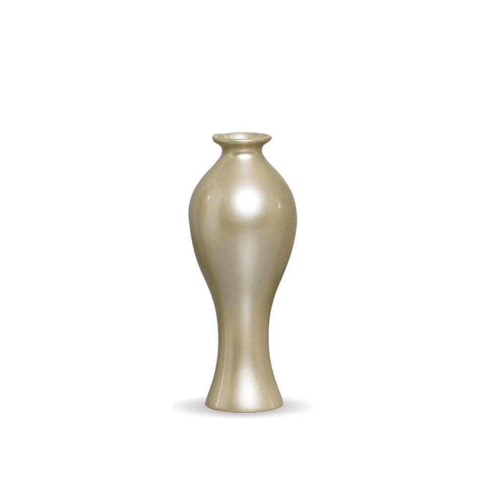 Vaso Decorativo Califórnia P Decoração Em Cerâmica Fendi Chrome
