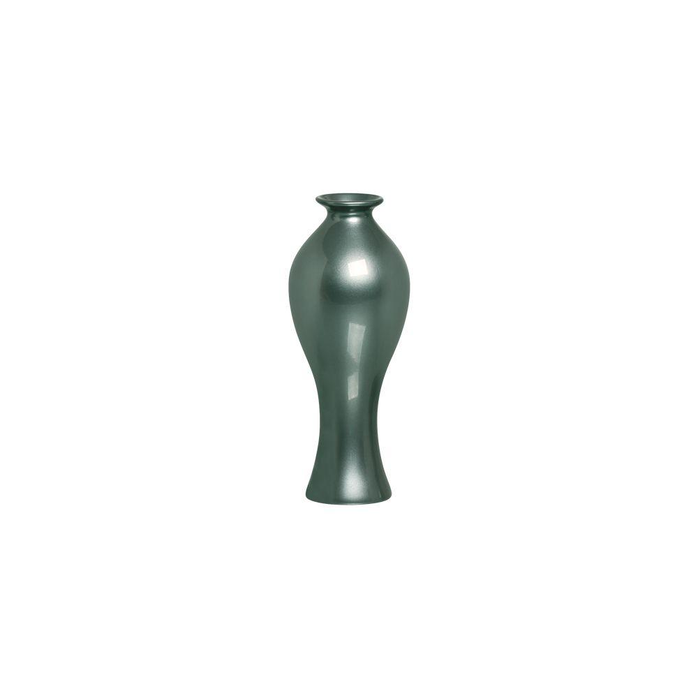 Vaso Califórnia P Decoração em Cerâmica Verde Perolado