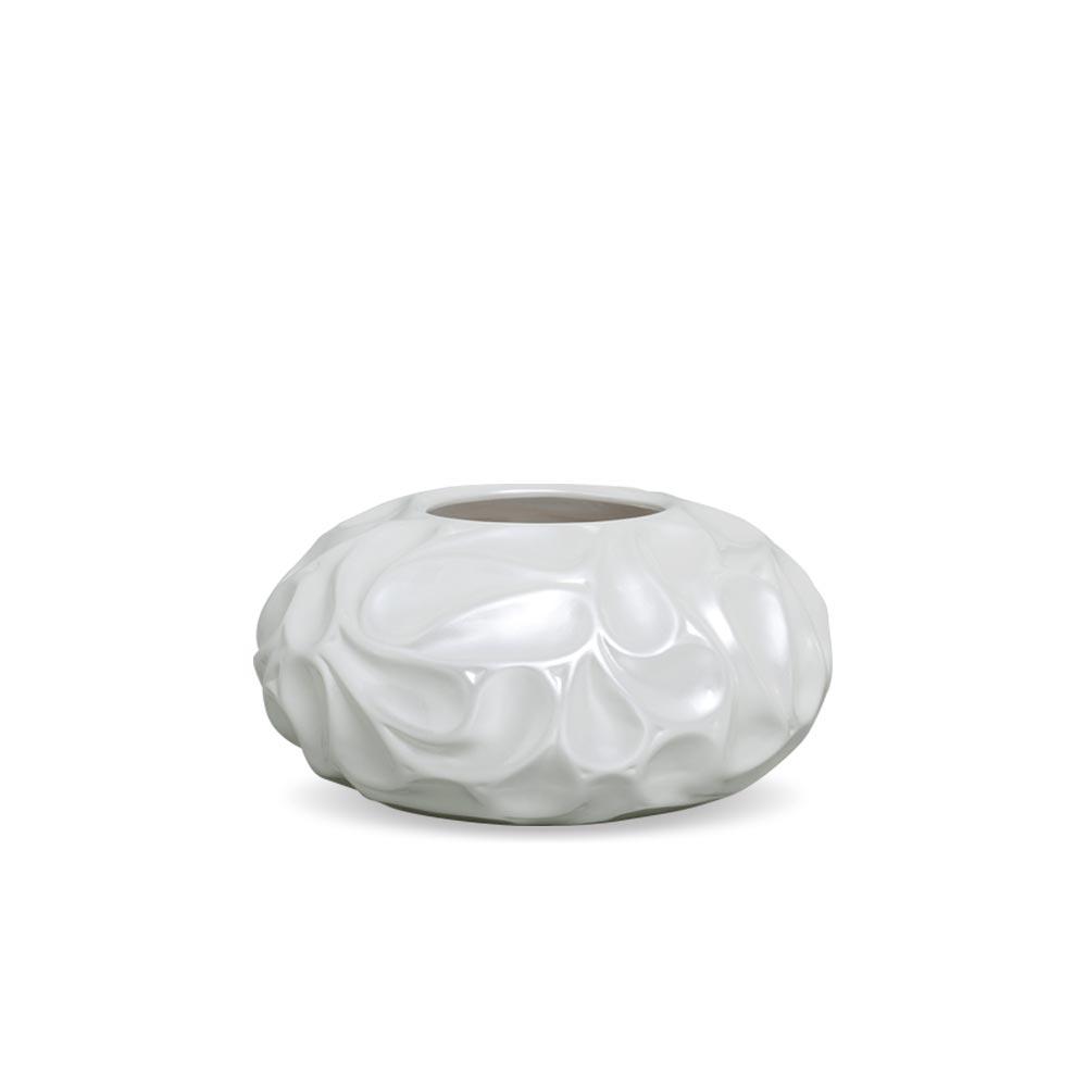 Vaso Colmeia P Decoração Em Cerâmica Pérola