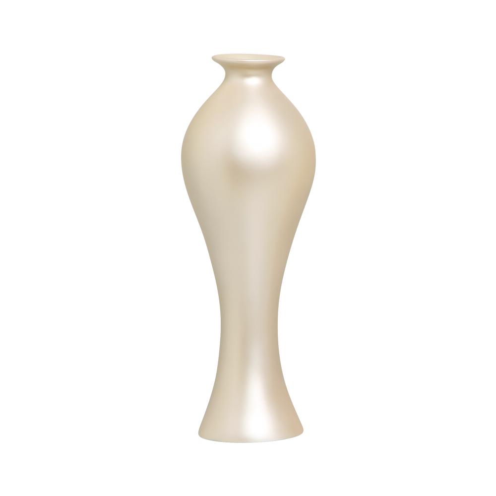 Vaso Decorativo Califórnia G Decoração Em Cerâmica Creme