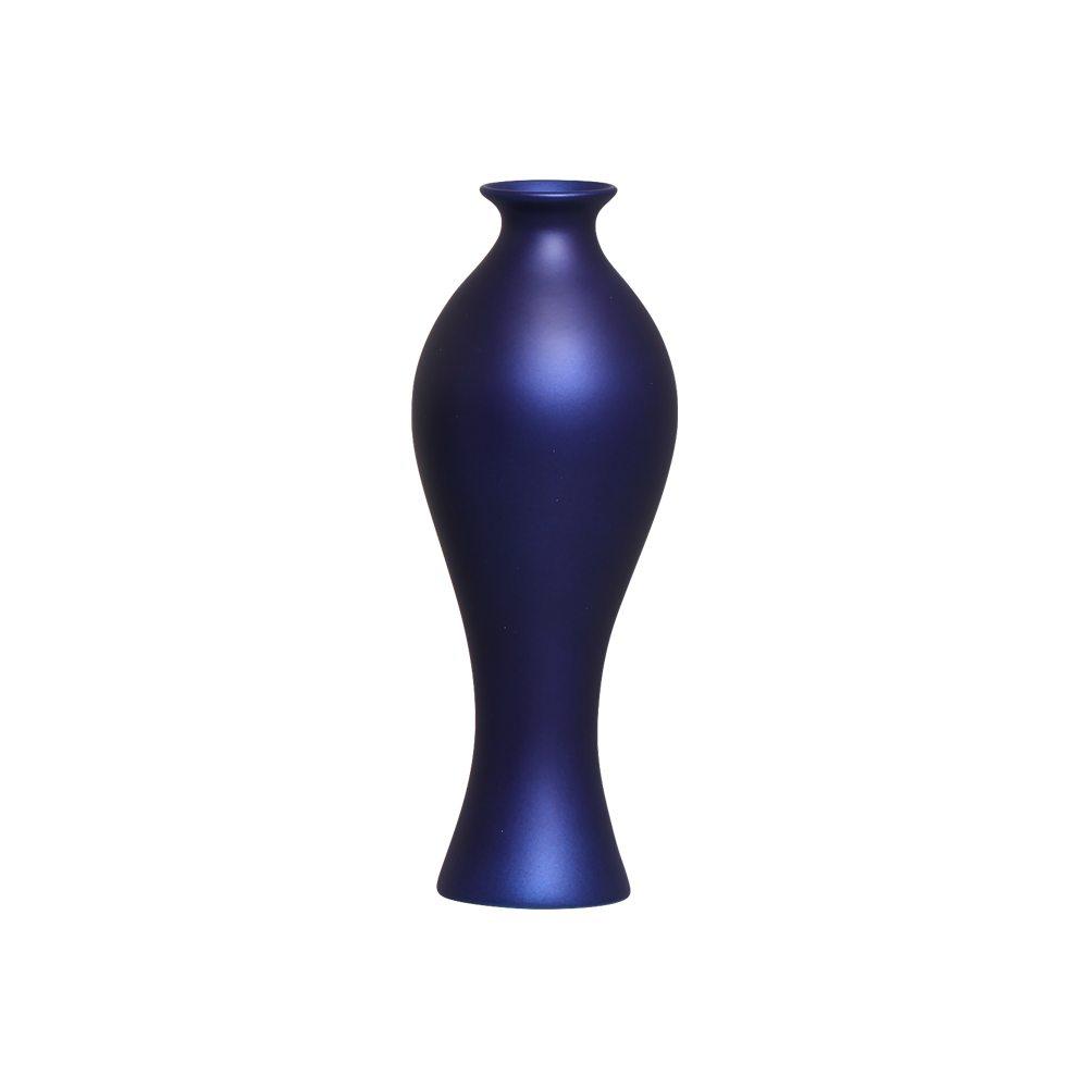 Vaso Decorativo Califórnia M Decoração Cerâmica Azul Royal