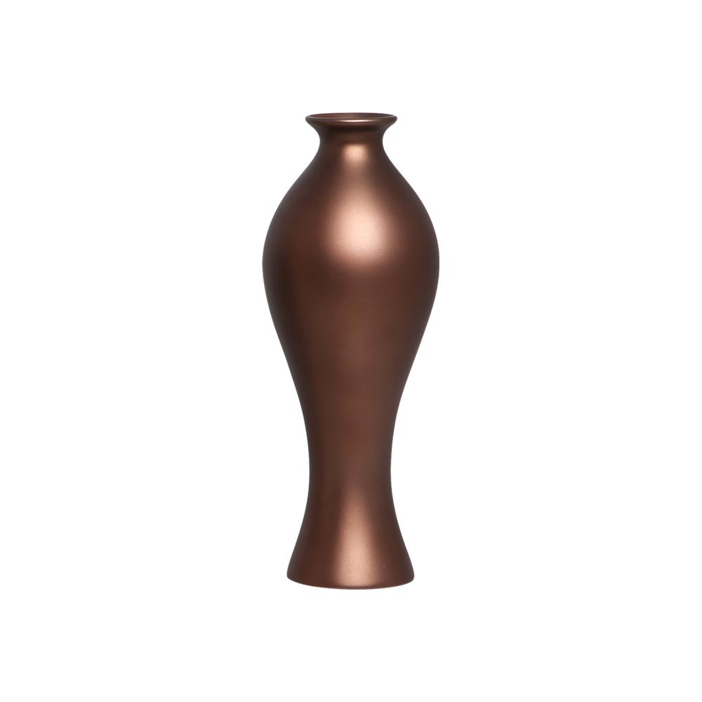 Vaso Decorativo Califórnia M Decoração Em Cerâmica Café