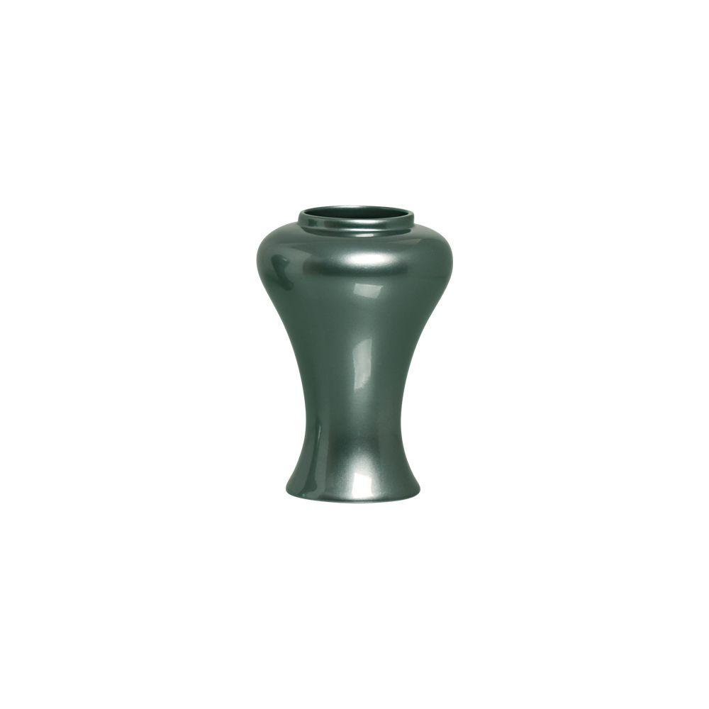 Vaso Garden P Decoração Em Cerâmica Verde Perolado