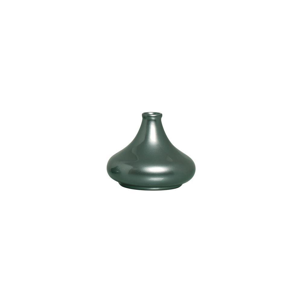 Vaso Jade M Decoração Em Cerâmica Verde Perolado