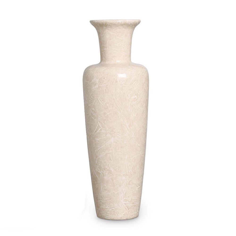 Vaso Madri Decoração em Cerâmica Bege Petra
