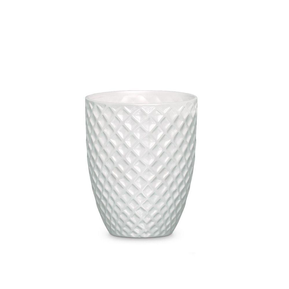Vaso Mônaco G Decoração Em Cerâmica Clássica Branca