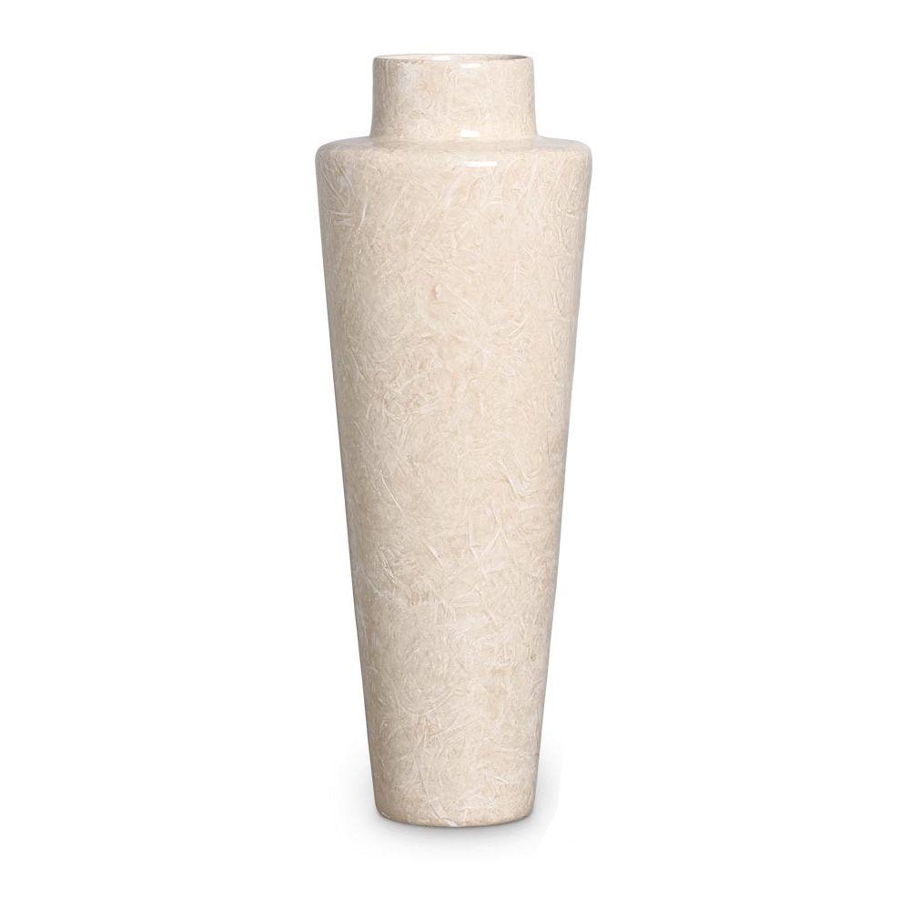 Vaso Paris Decoração Em Cerâmica Bege Petra
