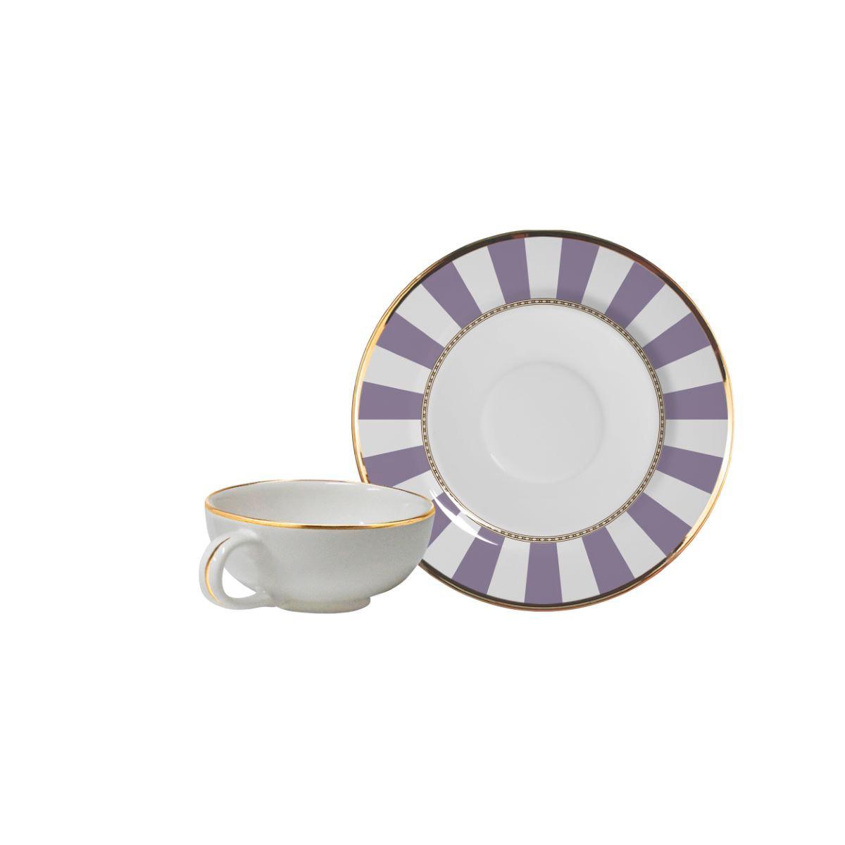 Xícara De Café + Píres Lavender Strip