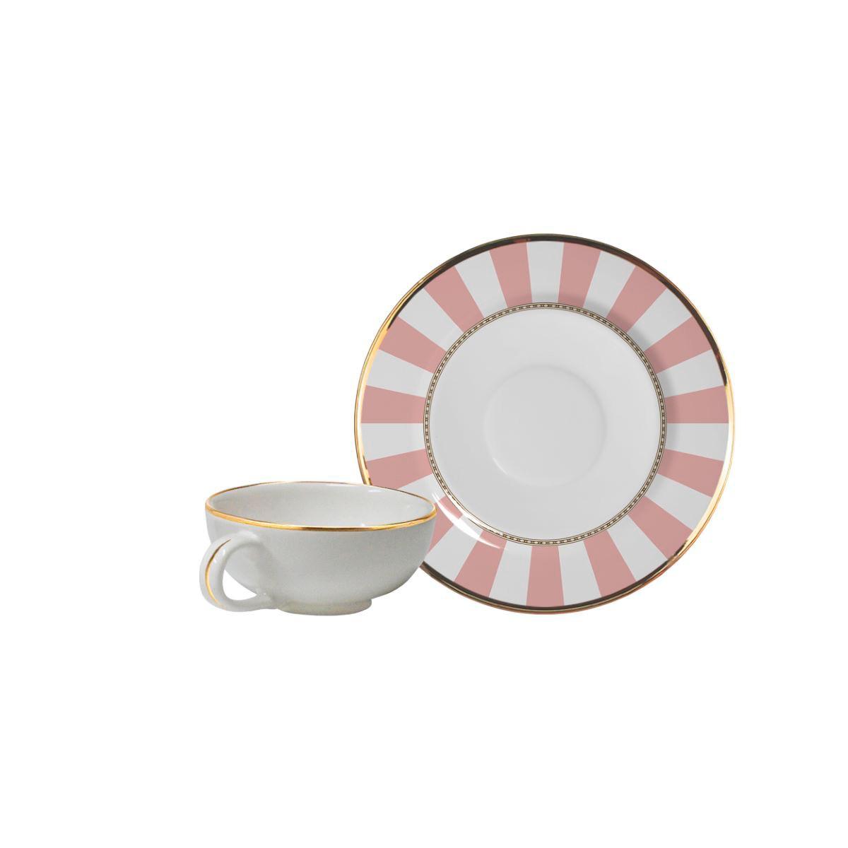 Xícara De Café + Píres Pink Strip