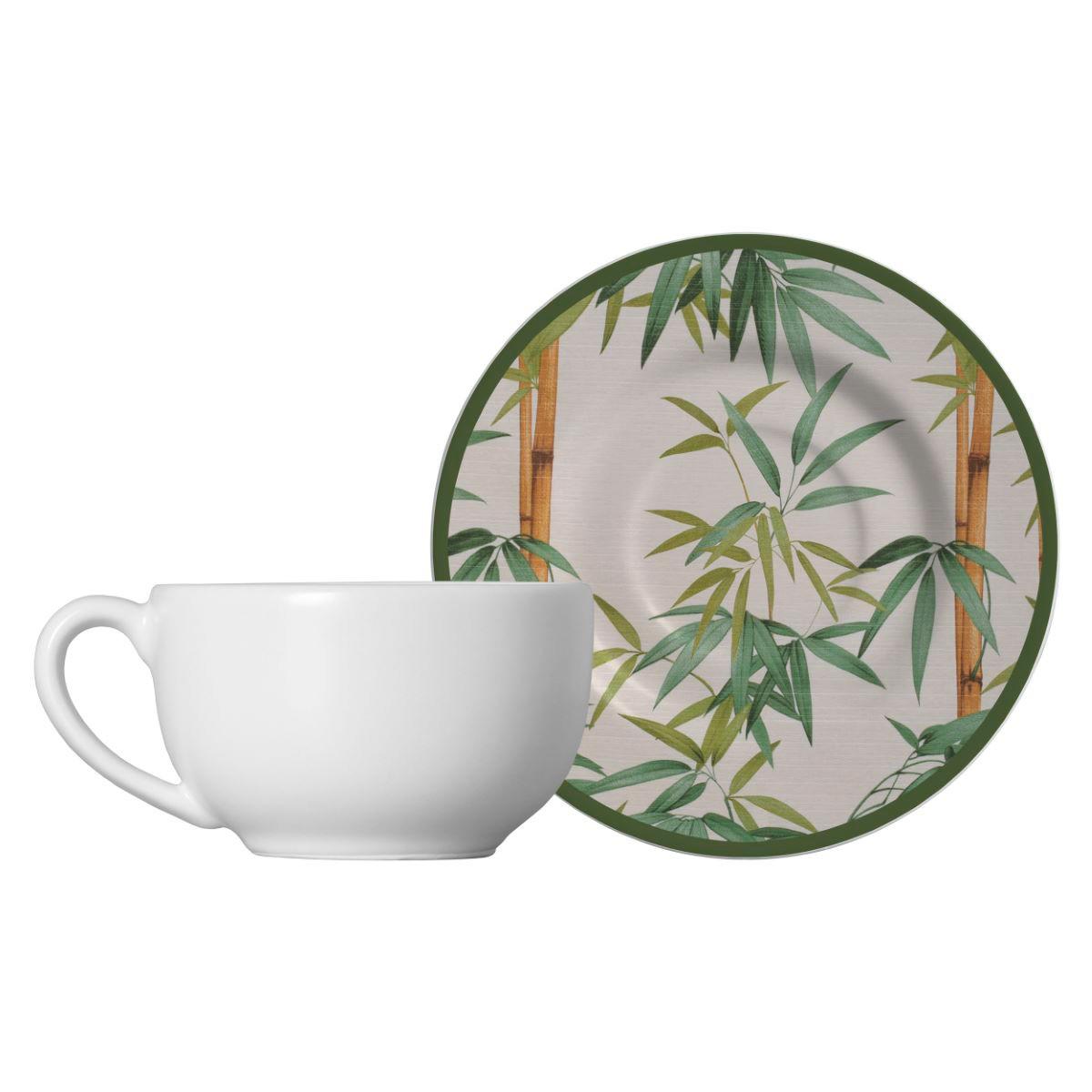 Xícara De Chá + Píres Bambu