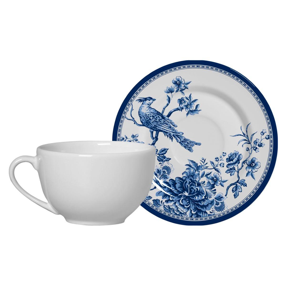 Conjunto de Xícara de Chá + Píres Chinese Garden