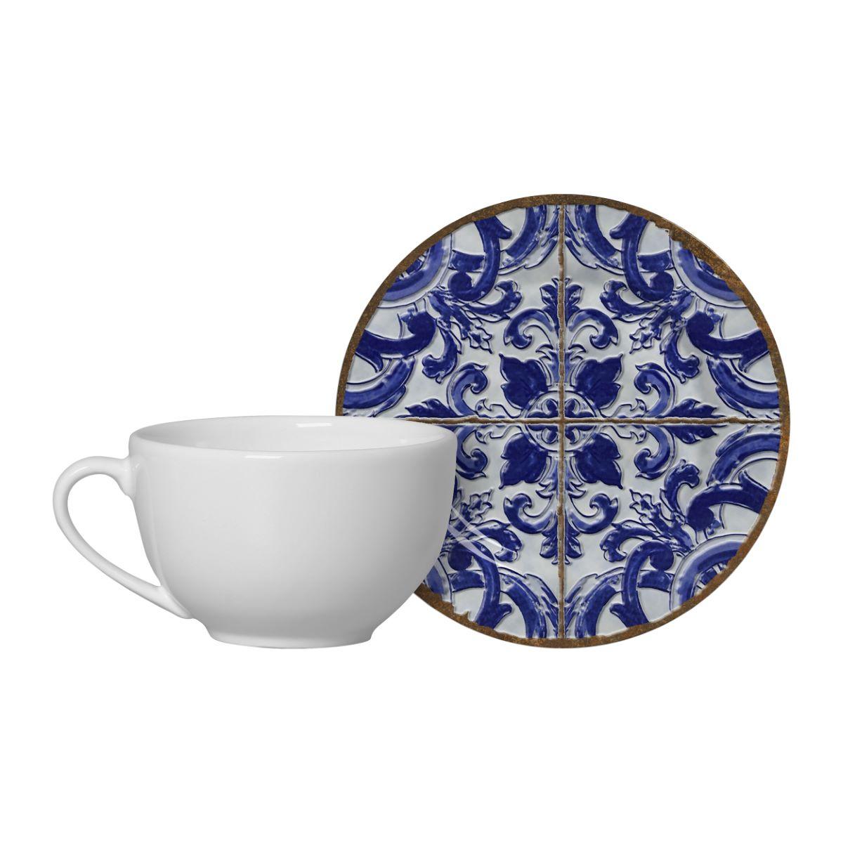Conjunto de Xícara de Chá + Píres Coimbra