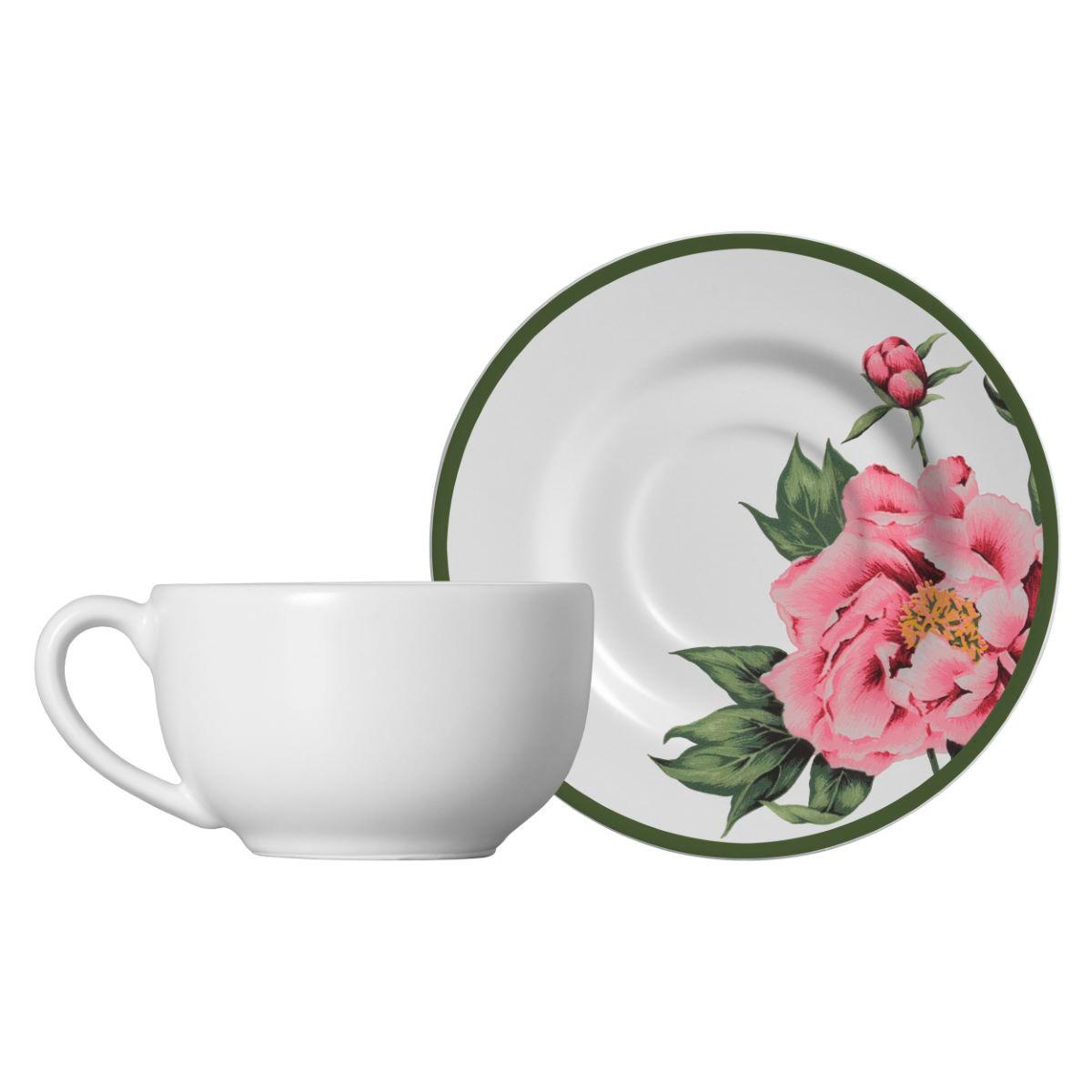 Xícara De Chá + Píres Peony Rose