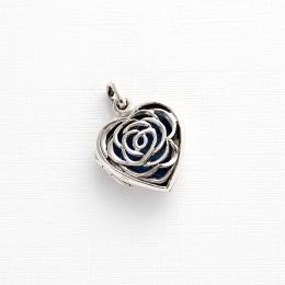 Relicario Coração Difusor em Prata 925 Legítima Flor