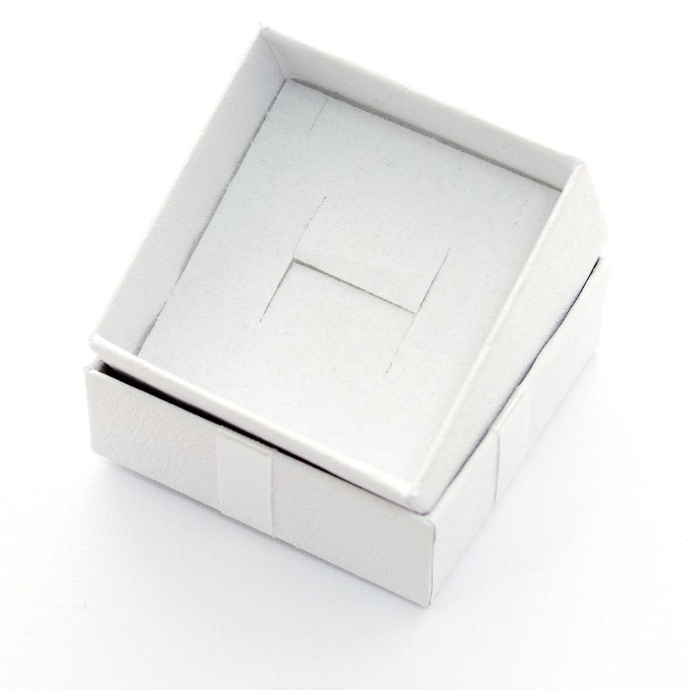 Caixa Rígida com Laço e Berço de Espuma para Joias - Branca - Kit com 2