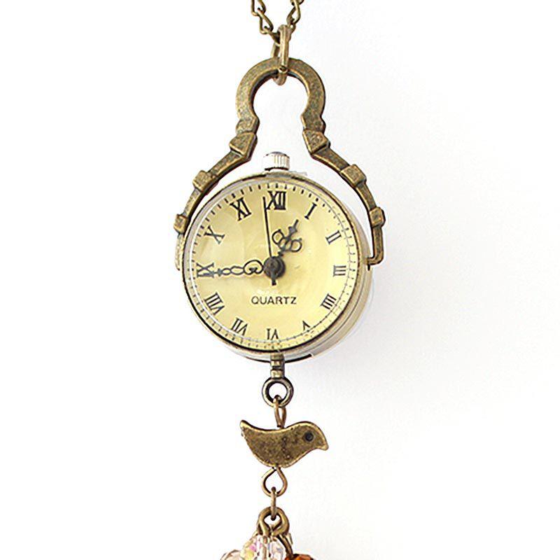 Colar com Relógio Mostrador Amarelo