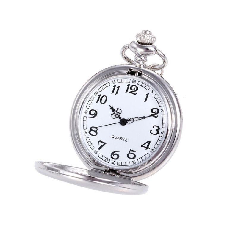 Colar com Relógio Prateado
