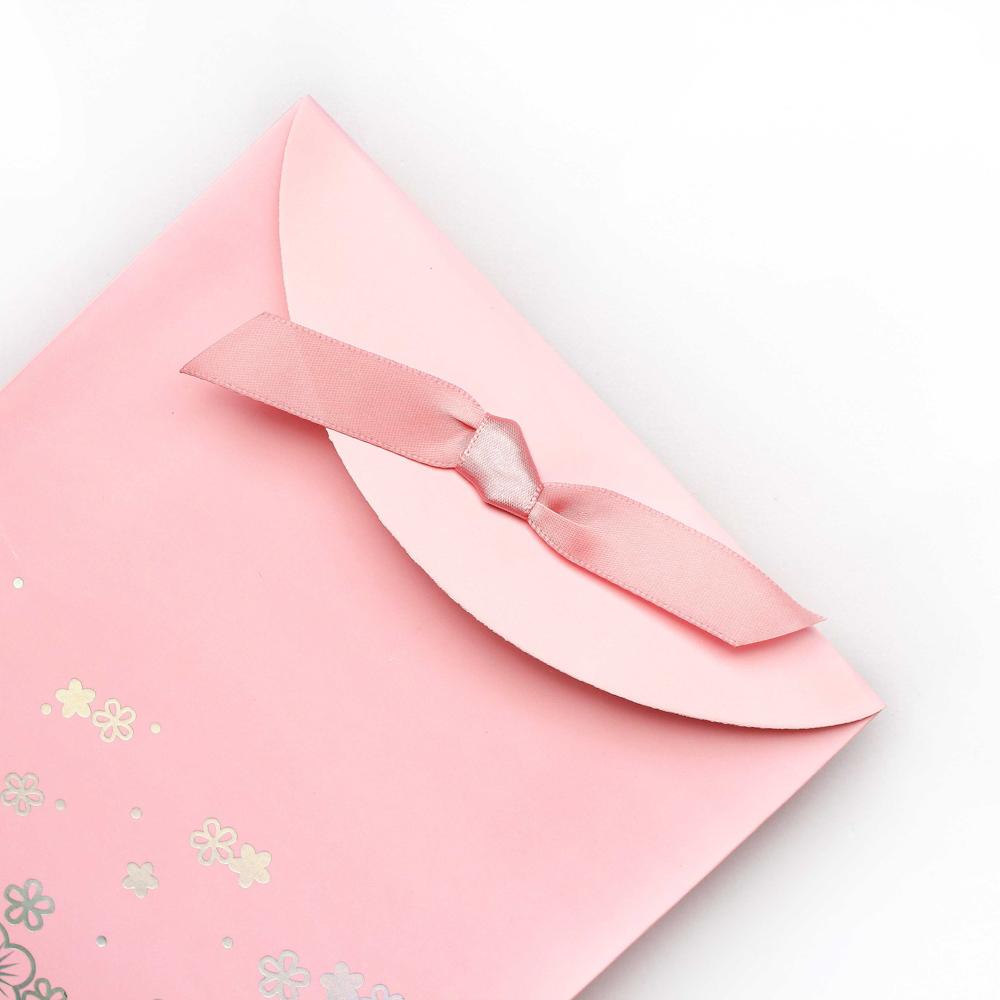 Envelope para Presente Cor de Rosa com Fita e Velcro - kit com 2