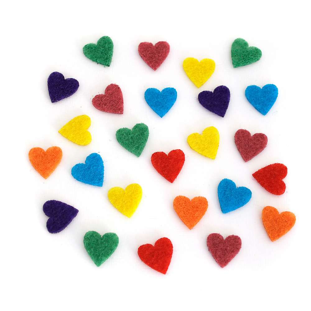 Feltro Coração Pequeno Para Difusor e Relicário - Kit com 25