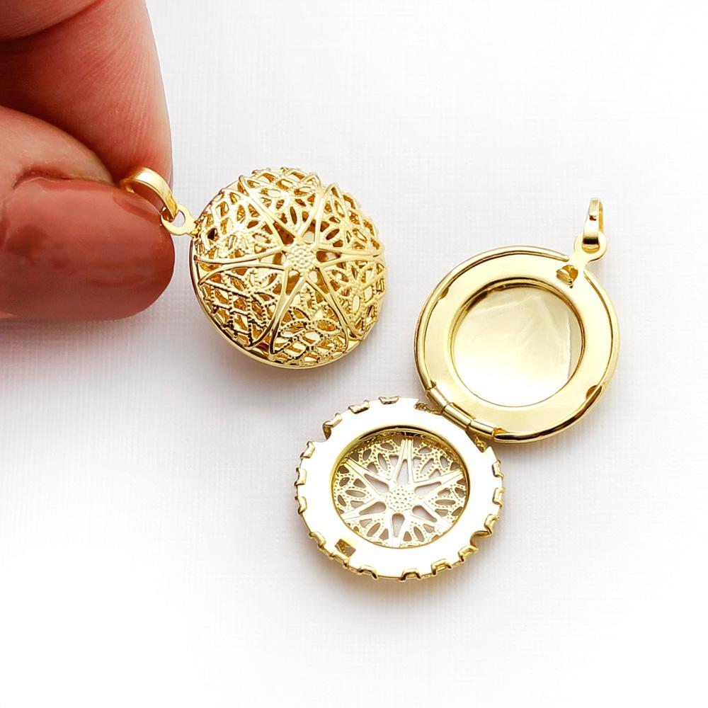 Kit 2 Pingentes difusor modelo redondo pequeno dourado