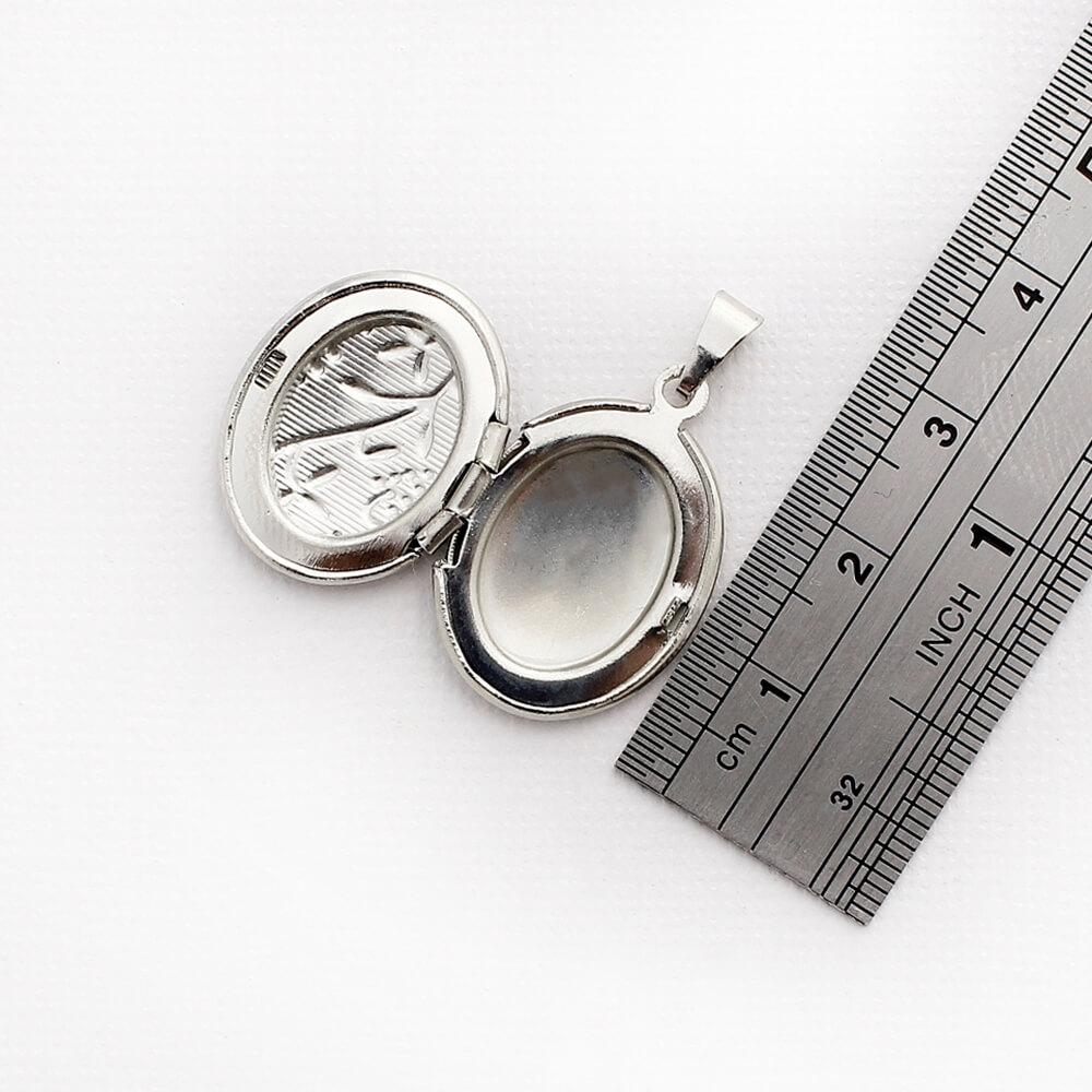 Kit 2 Pingentes Relicários modelo Oval Pequeno