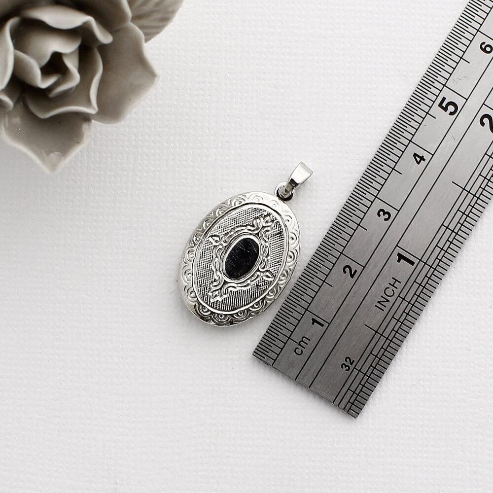 Kit 2 Pingentes Relicários para Foto modelo Oval Pequeno