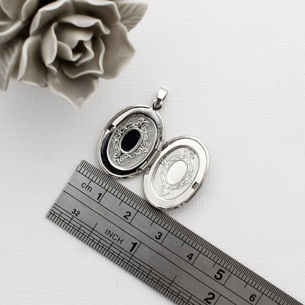 Kit 3 Pingentes Relicários para Foto modelo Oval Pequeno