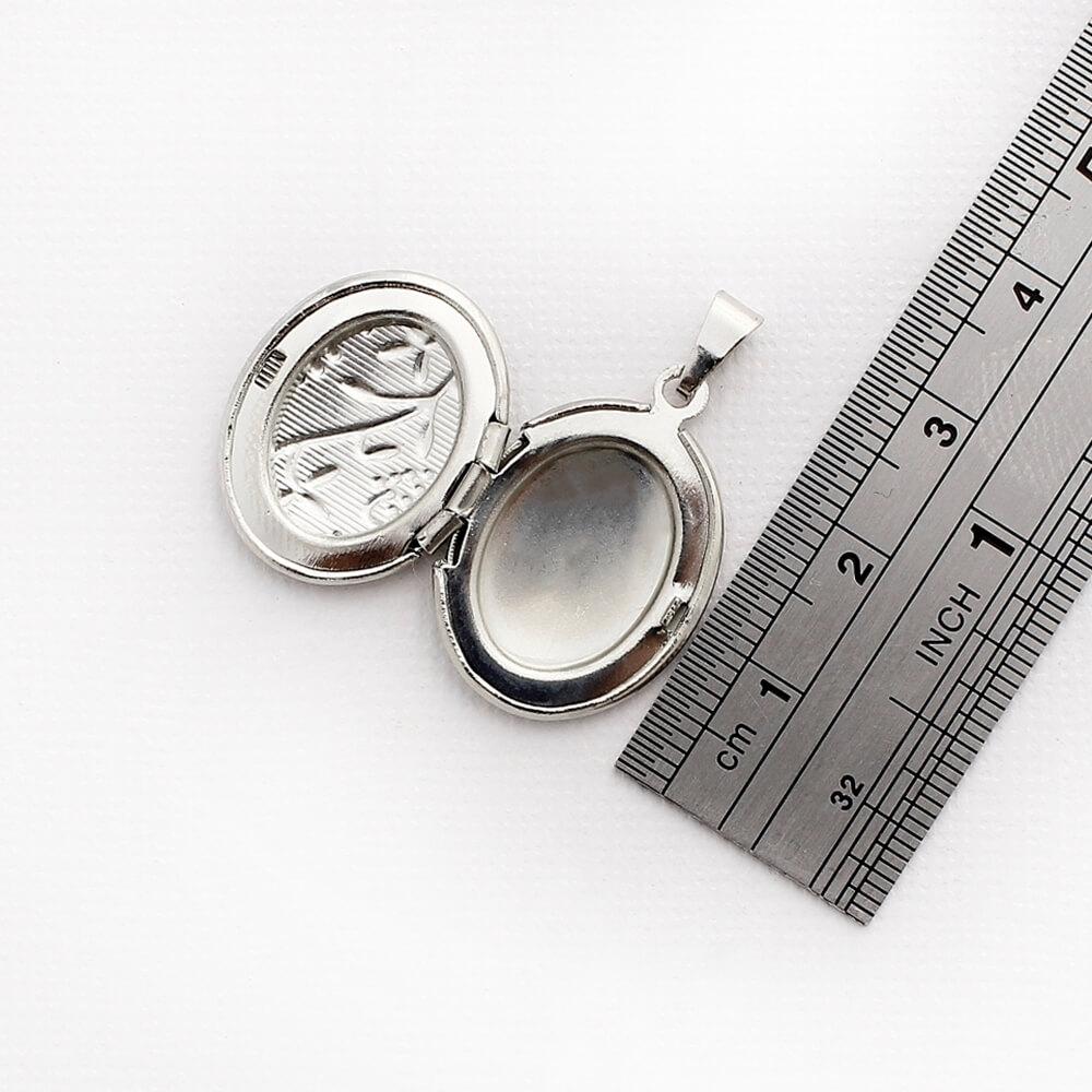 Kit 5 Pingentes Relicários modelo Oval Pequeno