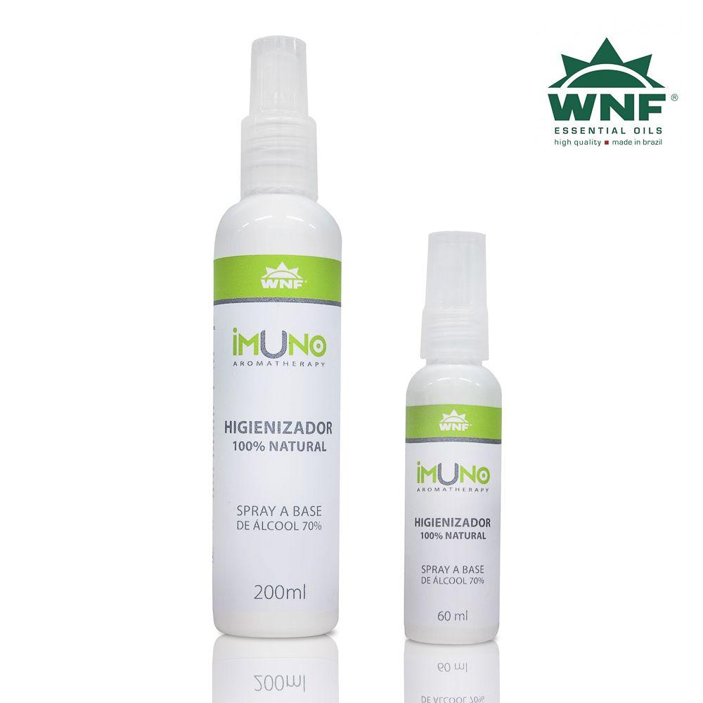 Kit Imuno WNF Higienizador a Base de Álcool 70°GL - 200ml + 60ml