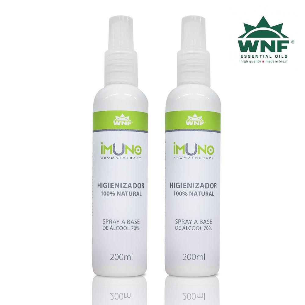 Kit Imuno WNF Higienizador a Base de Álcool 70°GL - 2 unidades - 200ml