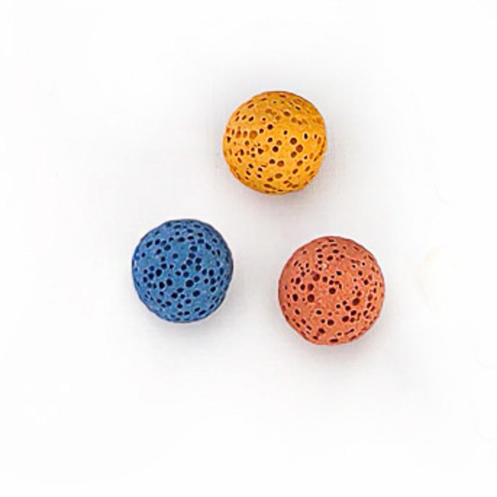 Pedra Vulcânica Para Difusor e Relicário - 5 esferas 16mm