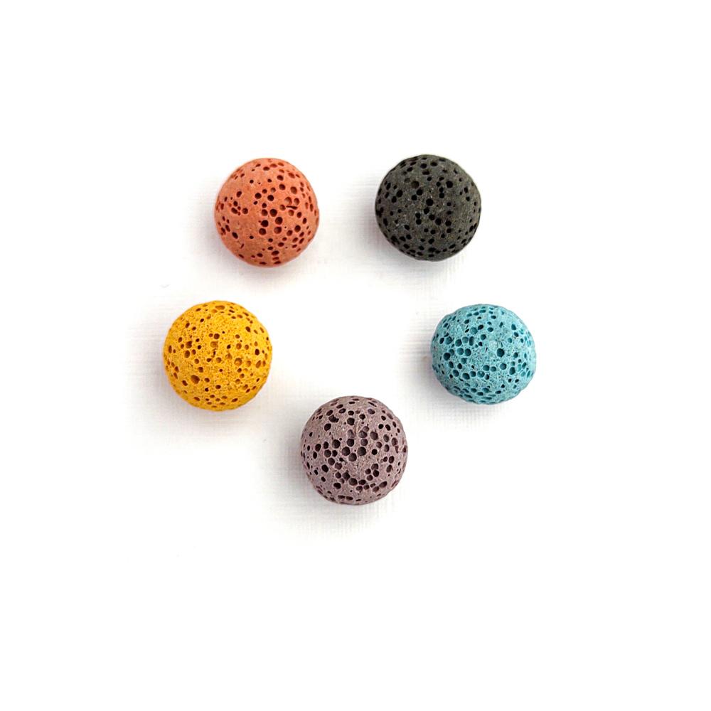 Pedra Vulcânica Para Difusor - Kit com 5 esferas 13mm