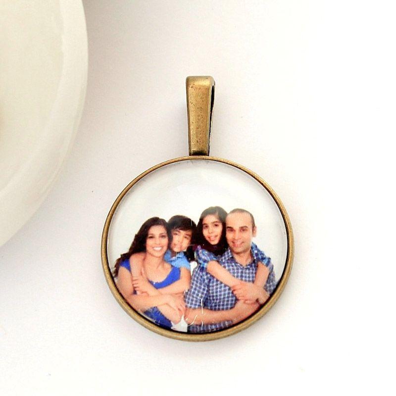 Pingente Camafeu Ouro Velho Com Foto e Vidro Protetor
