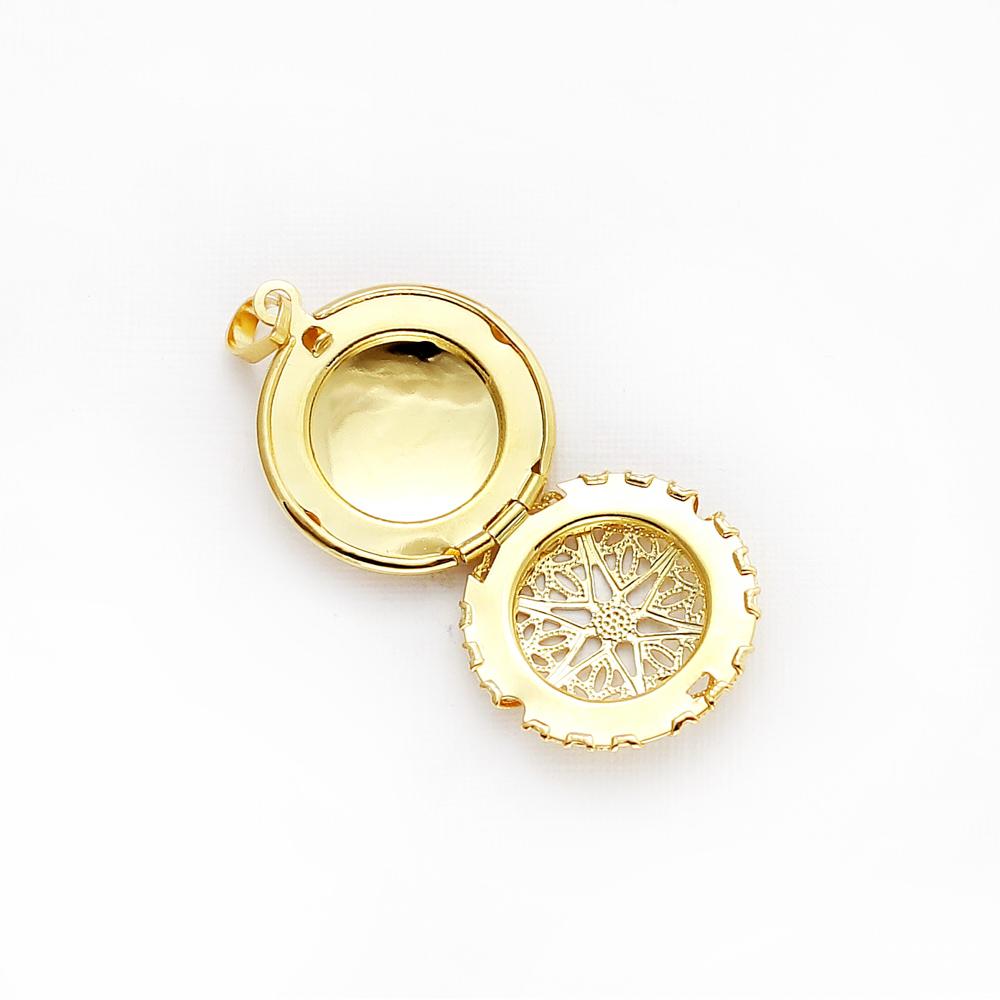 Pingente difusor modelo redondo pequeno dourado