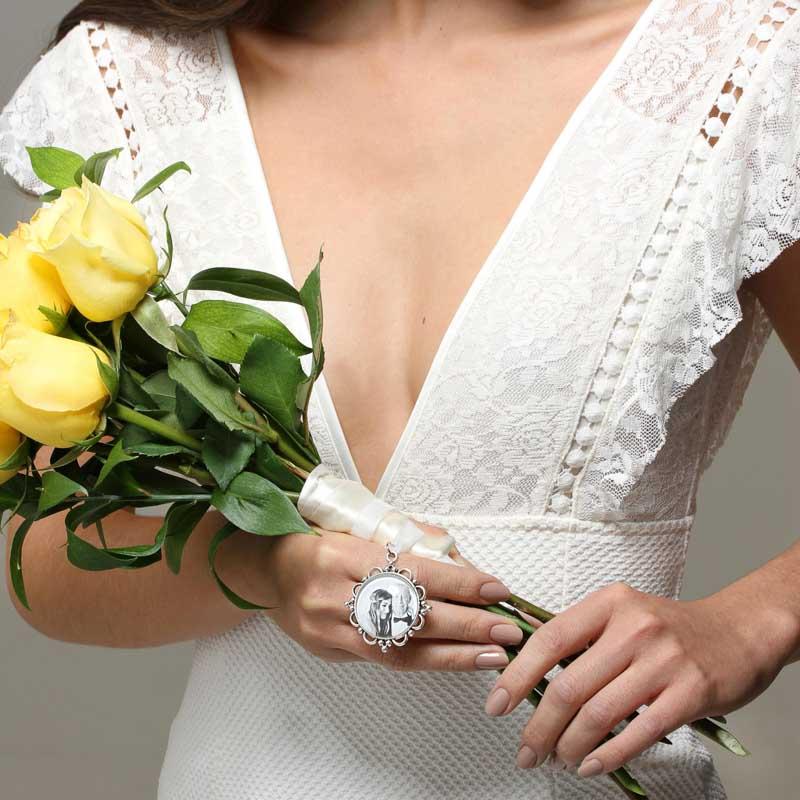 Pingente Para Buque de Noiva Com Foto