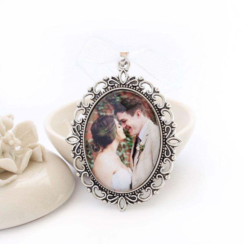 Pingente Relicário Personalizado Para Buque de Noiva