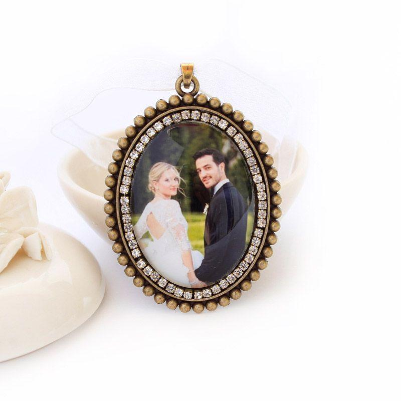 Relicário Pingente Para Noiva Com Foto e Vidro Protetor
