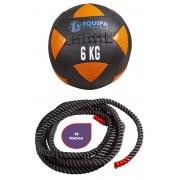 Kit Corda Naval 40MM 10Metros + Wall Ball Couro 06KG